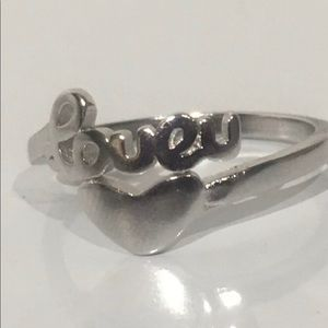 Jewelry - S925 stamped sterling silver ❤️ U ring adjustable